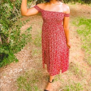 Showpo Floral Midi Dress